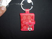 COACH KEY FOB/CHAIN-PICTURE ALBUM-STAR OR HEART ATTACHED NWOT