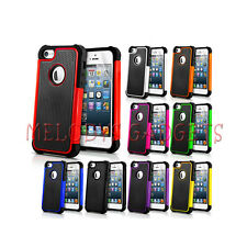 NEW SHOCK PROOF SERIES CASE COVER FITS APPLE IPHONE 5 FREE SCREEN PROTECTOR