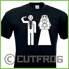Design T-Shirt Game Over Stickman Wedding Hochzeit Junggesellenabschied Bachelor