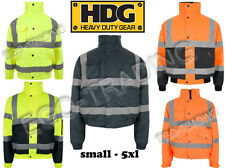 MENS LADIES HIGH VIS SAFETY BOMBER JACKETS. HI VIS REFLECTIVE WATERPROOF!