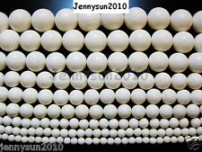 White Natural Coral Gemstone Round Beads 16'' 6mm 8mm 10mm 12mm 14mm 16mm 18mm