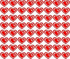 LOVE HEART STICKERS / DECALS - DIFFERANT SIZES & COLOURS