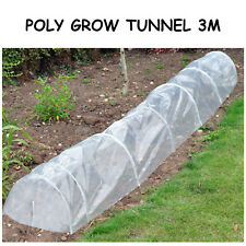 Poly grow tunnel cloche 3m propagator plant frost protection mini greenhouse