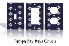 Tampa Bay Rays Light Switch Covers Baseball MLB Home Decor Outlet