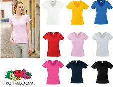 Fruit of the Loom Women's-Fit Valueweight V-Neck T
