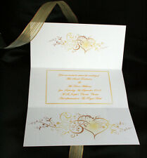 Swirly Heart - Invitation Name Place Table Card RSVP Save the Date Money Poem