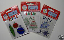Christmas Stamps Assortment of 12 Designs unmounted Acrylic You Choose