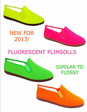 Fluorescent De Carmelo Plimsolls similar to Flossy ALL SIZES Made in Spain