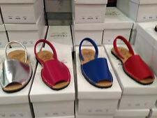 Ladies Leather Flat Open Toed Sandal Made in Spain single colours