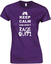 Keep Calm and Don't Rage Quit, Video Games Inspired Ladies Printed T-Shirt