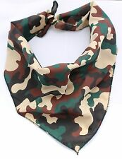Hunting Camouflage Working Puppy Dog Bandana/Collar 100% Cotton&Made in UK