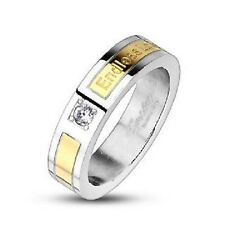 Personalized Stainless Steel Two Tone Endless Love Promise Ring