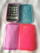 I PHONE 3G 3GS PROTECTIVE CASE COVER PURPLE BLUE PINK FLOWER BUTTERFLY BRAND NEW