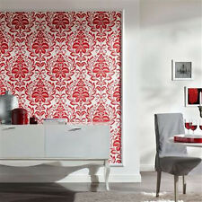 SALE!  'Orissa' Textured Damask wallpaper in Red and White was £34.99 NOW £17.99