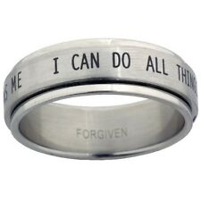 PHILIPPIANS 4:13 Spinner Ring I Can Do All Things Scripture BRAND NEW