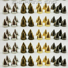 9mm Cone Screwback Metal Studs Leathercraft Rivet Bullet Spikes Handbag Purse