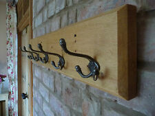 Vintage Style Coat Rack Triple Hook Country Cottage Antique Style Pine Wood