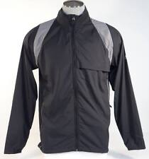 Adidas Golf ClimaProof Black & Gray Full Zip Packable Wind Jacket Mens NWT