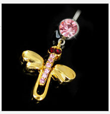 NEOGLORY MOVABLE CRYSTAL DRAGON FLY BELLY BAR SUMMER/GIFT/PARTY 090410
