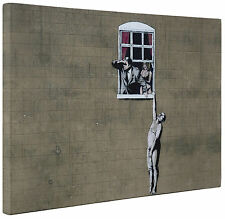 Banksy Canvas Window Lovers Wall Art Print a1 a2 New Picture