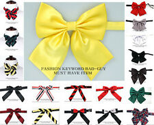 1 NEW Pre-tied Satin, Stripe  girl women thin Bowtie sailor school Necktie