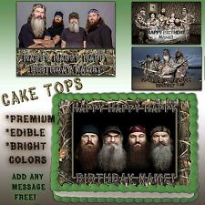 Army Birthday Cakes on Duck Dynasty Cake Edible Topper Photo Image Icing Happy Birthday Decal