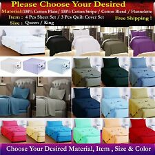 QUEEN & KING SIZE BED SHEET SET,QUILT COVER SET,FITTED SET & FLANNEL SHEET SETS