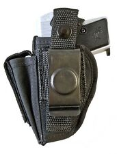Taurus PT 22 & 25 | Nylon OWB Belt Holster with Mag Clip Pouch. MADE IN USA!