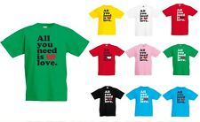 All you need is Love, Song, music, Beatles Inspired Kid's Printed T-Shirt