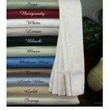 1000TC NEW HOTELS QUALITY 4 piece bed sheet set ORGANIC PIMA COTTON Queen SOLID