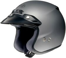 *Ships Same Day* Shoei RJ Platinum-R (Matte Grey) Open-Face Motorcycle Helmet