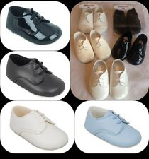 LITTLE BOYS BABY/TODDLER LACES SHOES CHRISTENING/WEDDING/PARTY, PATENT & MATT