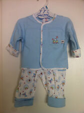 New Baby Blue Boy's 2 pc Outfit  3-6-9 Months Teddy Bear jacket & pants