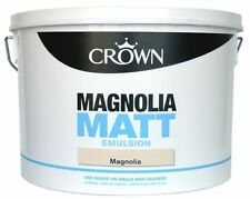 Crown / Dulux 10 Litre Magnolia Paint Matt & Silk Emulsion - Next Day Delivery