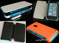 Luxury Flip Synthetic Leather Case Cover For Nokia Lumia 620 + Touch Pen + Film