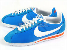 Nike Classic Cortez Nylon Italy Blue/White-Orange Ember Low 2012 Mens 488291-404