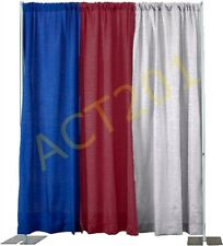 8 FT HIGH x 10 FT WIDE PIPE AND DRAPE KIT (WITH PREMIUM DRAPES) - PIPE & DRAPE