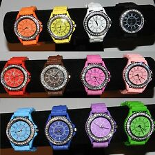 GENEVA Crystal watch Jelly Rubber Strap Watch - NEW VARIATION LISTING PICK ONE