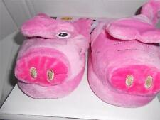 Wacky Walkers plush Pink Pig kids toddlers slippers house shoes animated eyes