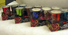 VOTIVE CANDLES BY ED HARDY SET OF THREE  BEAUTIFUL PIECES-GLASS VEG WAX