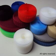 "Sew On velcro-like Hook and Loop fastener tape 5/8"",1"",2"""