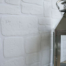 'Paintable White Stone' Brick wall Brick Effect Wallpaper