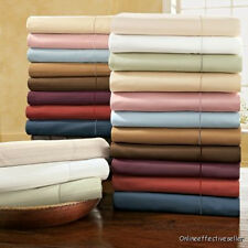 800-1000-1200TC Brand New 15 Color US Bedding Set 4pc Sheet Set 100%Cotton Solid