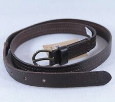 Hollister Women's Genuine Leather Belt Belts Brown XS/S or M/L NWT!