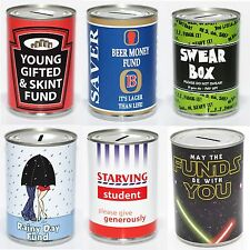Standard Saving Tins Novetly Fun Money Saving Box - 28 Designs to Choose From