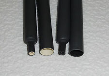 "1/2"" ID(.455"") Black 4:1/3:1 Heat Shrink Tubing Encapsulating Adhesive Lined"