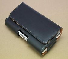LEATHER CASE COVER POUCH BELT CLIP FOR SAMSUNG GALAXY APPLE IPHONE BLACK + FILM
