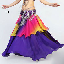 Belly Dance Costume Colourful Skirt Imitated Silk 3Layers Circles