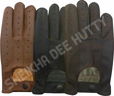 NEW HIGH QUALITY REAL SOFT LEATHER MEN'S DRIVING GLOVES