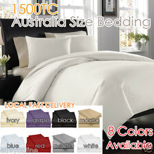 1500TC EGYPTIAN COTTON AUS Size Quilt Cover or Sheet Set Flat,Fitted,Pillowcases